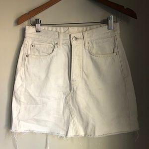 H&M White Denim Skirt